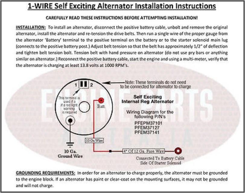 Wiring Diagram For Alternator With Internal Regulator