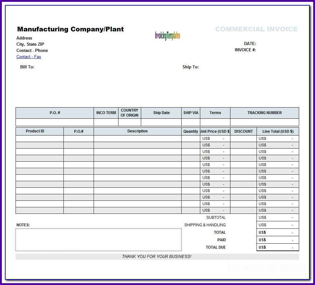 Word 2007 Invoice Template Download