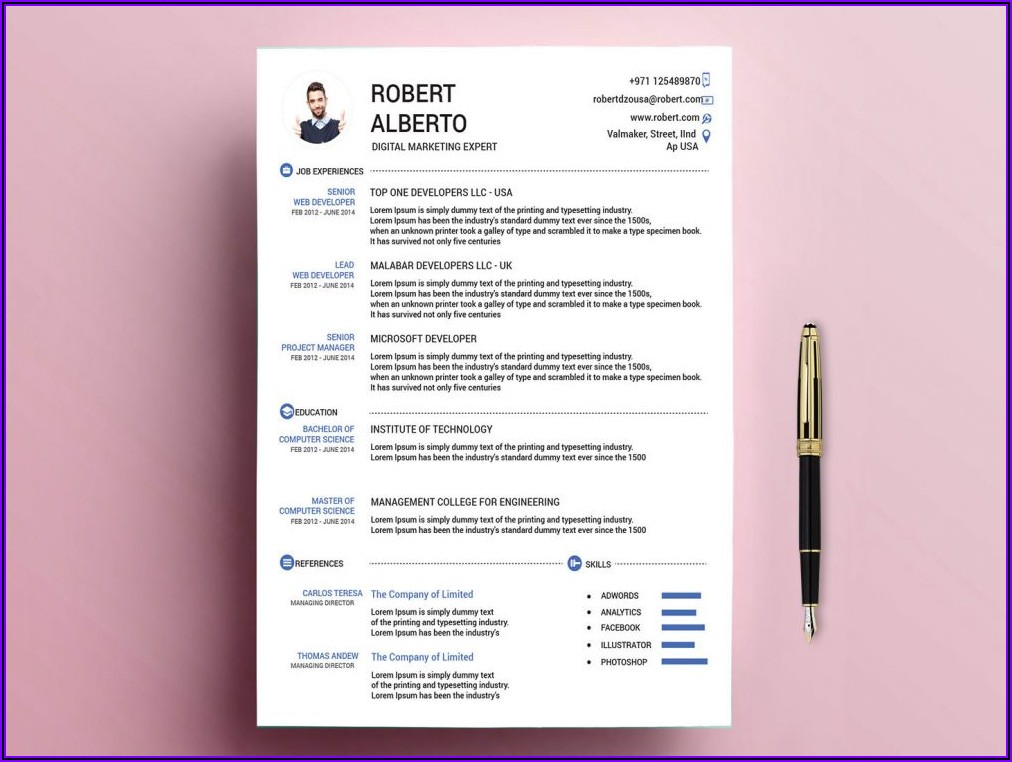 Word Document Cv Template Free Download