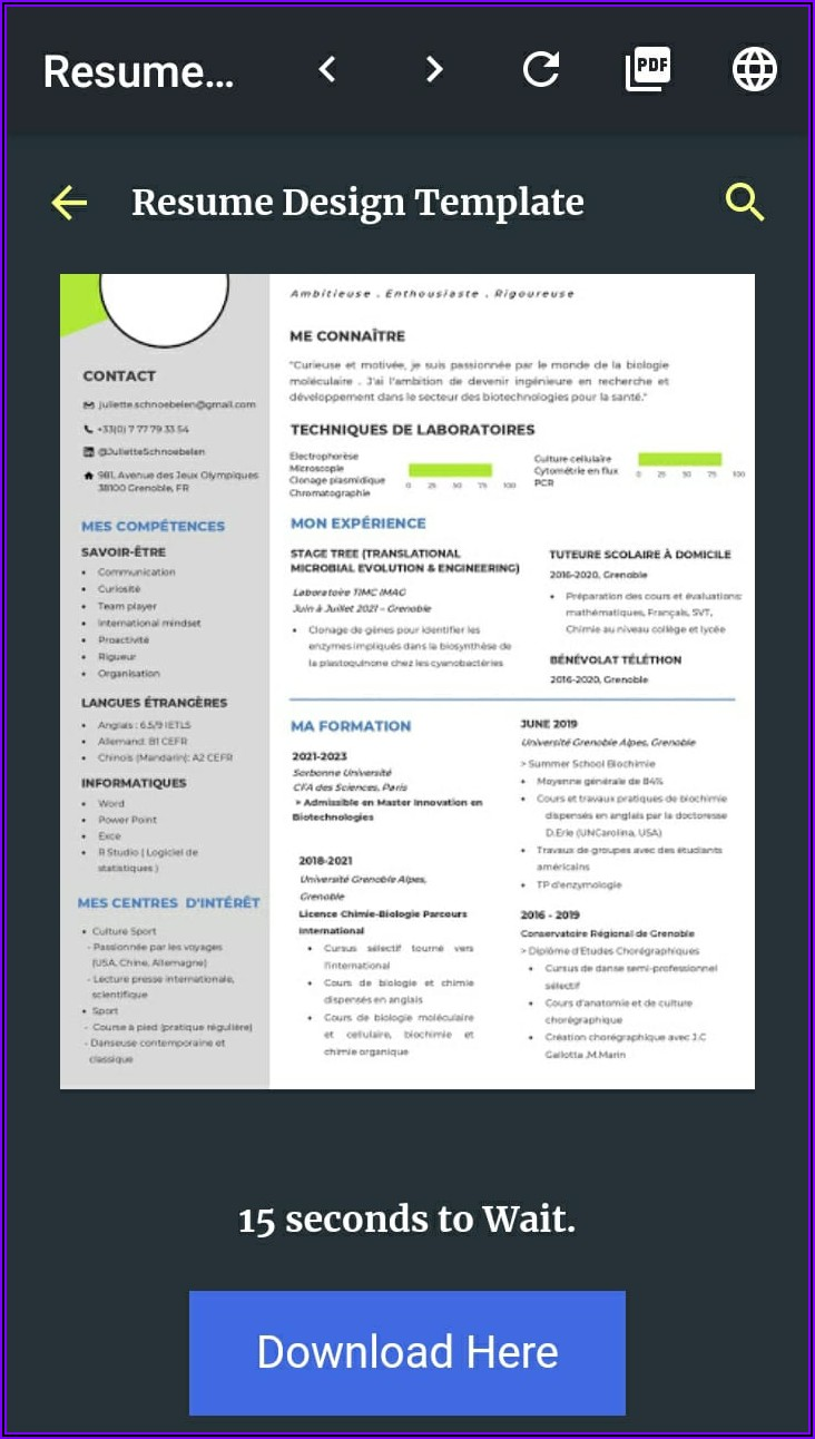 Word Document Resume Template Download
