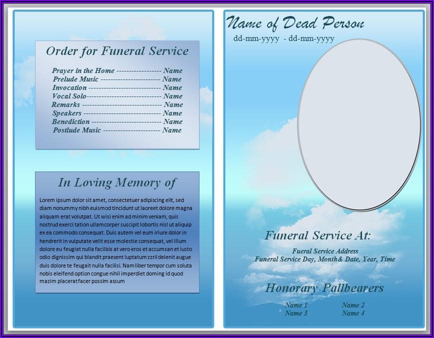 Word Funeral Program Template Free