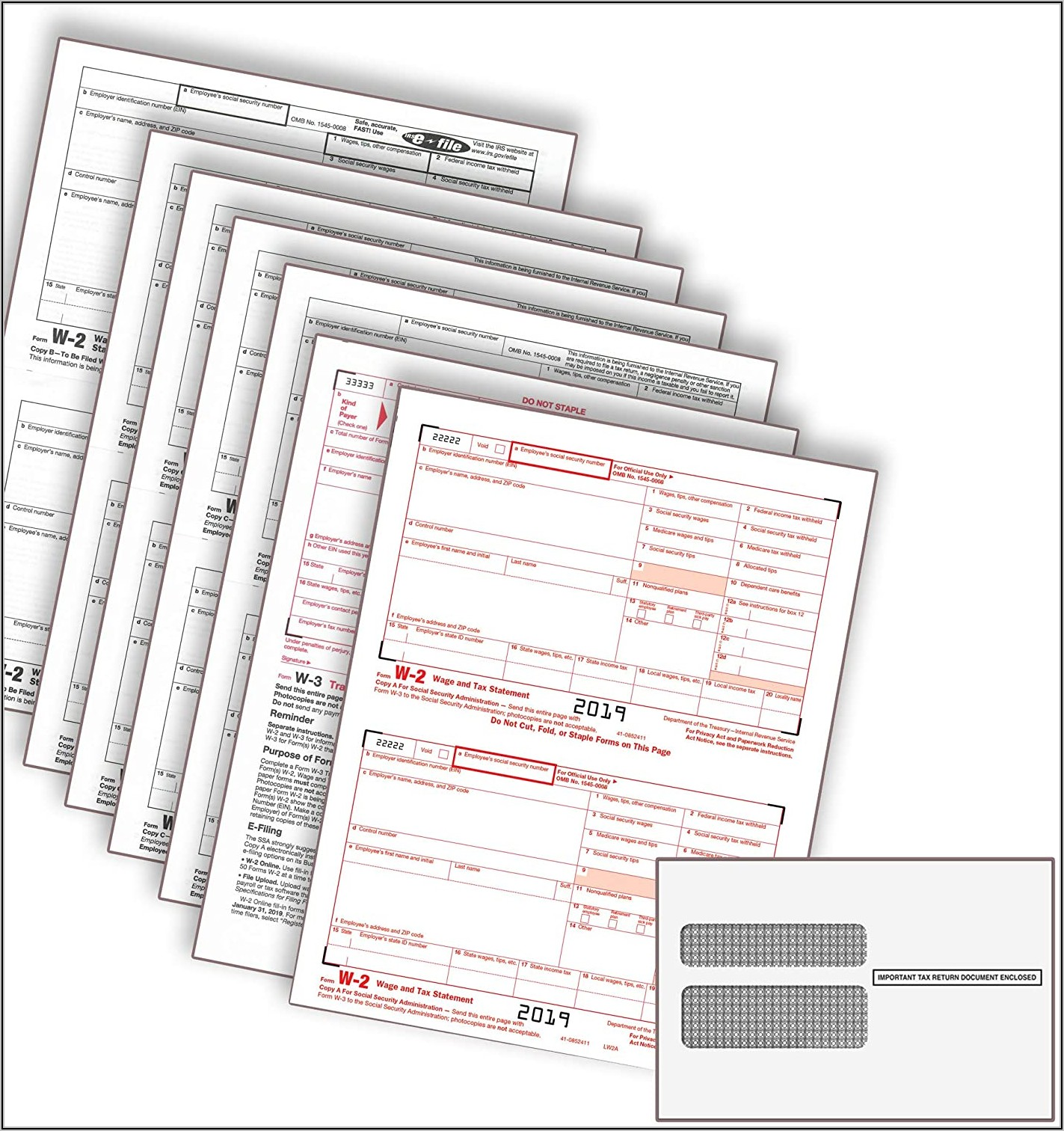 1099 Misc Laser Tax Forms And Envelopes 2 Up 4 Part
