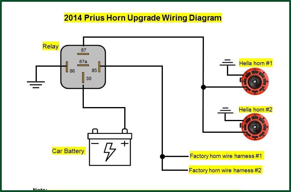 12v 4 Pin Relay Wiring Diagram Horn