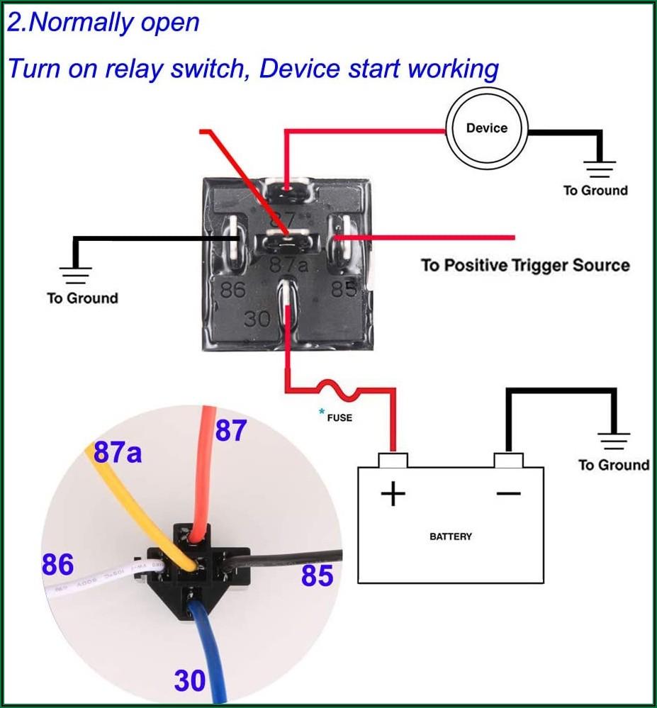 12v 40a Relay 5 Pin Wiring Diagram