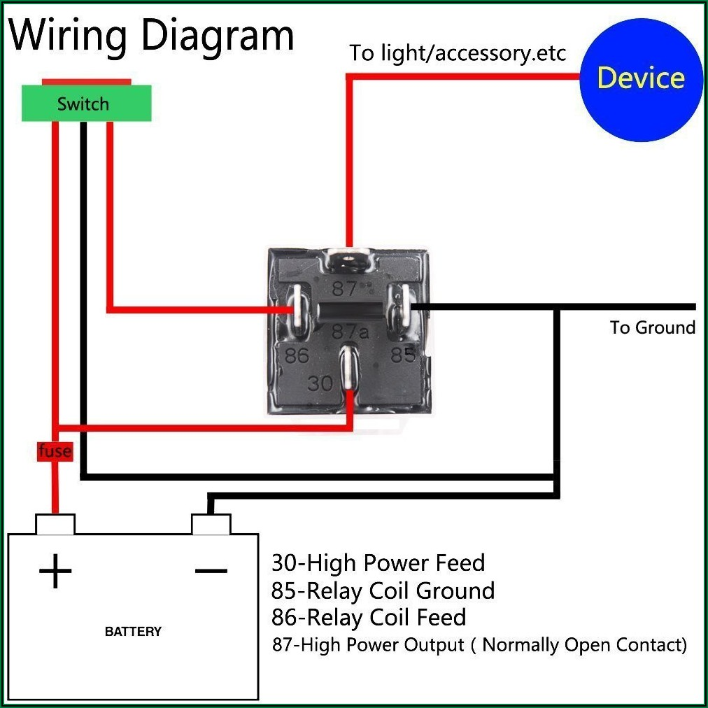 12v 40a Relay Wiring Diagram