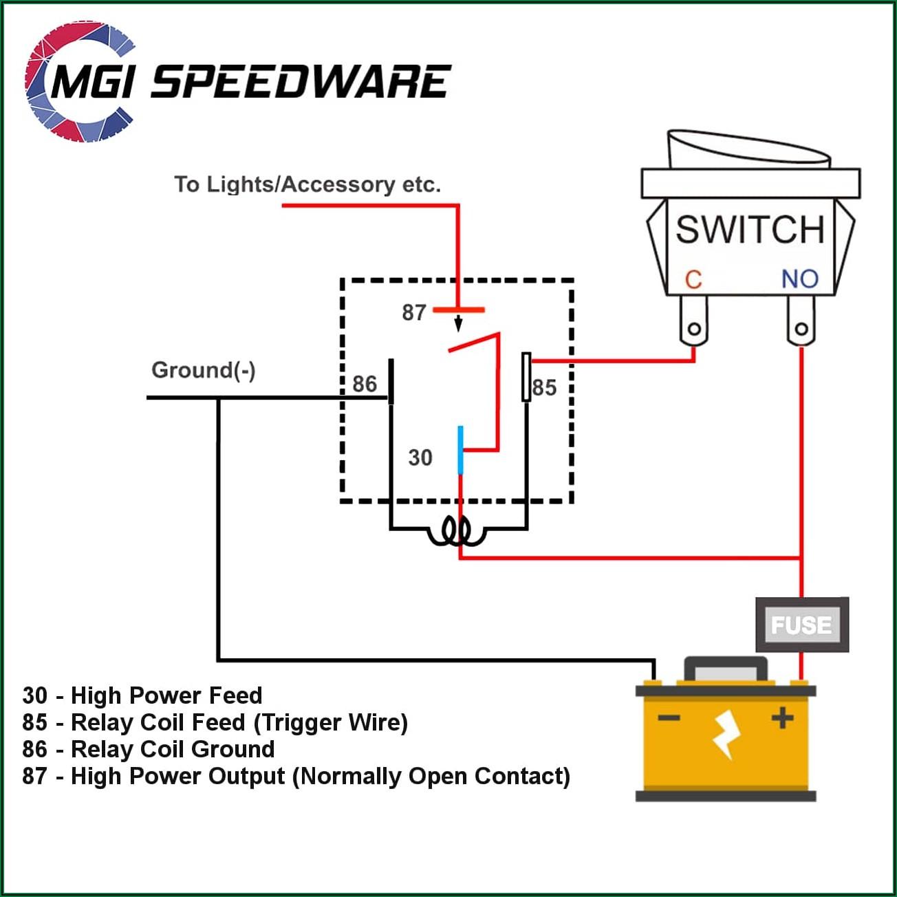 12v Relay Wiring Diagram 4 Pin