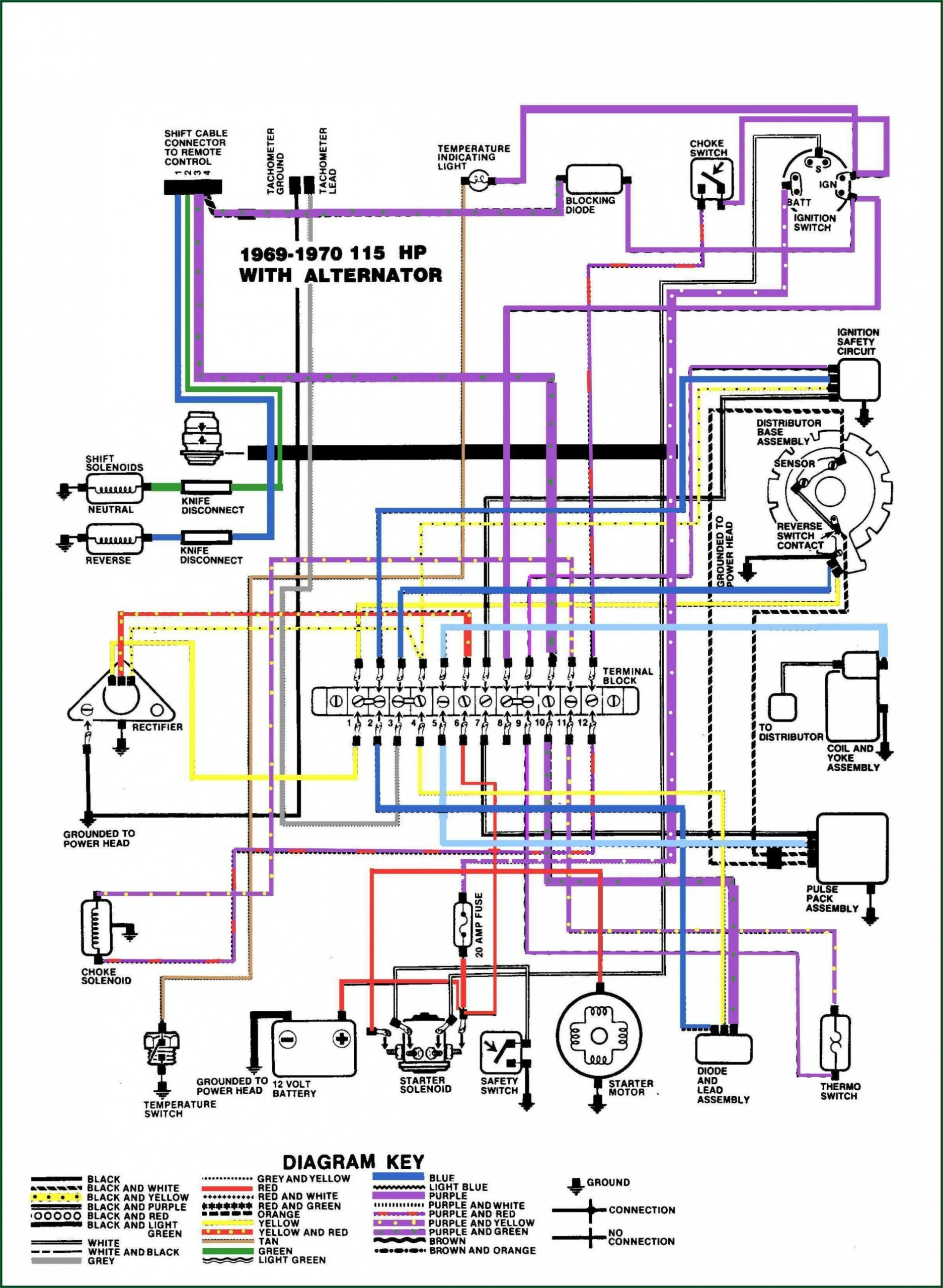 1999 Yamaha Outboard Wiring Harness Diagram