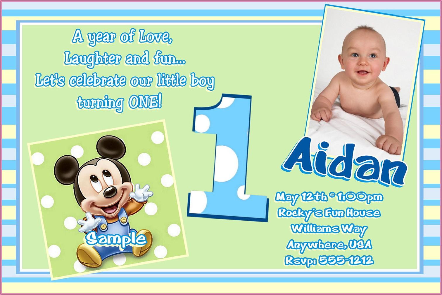 1st Birthday Invitation Card For Baby Boy Online Free