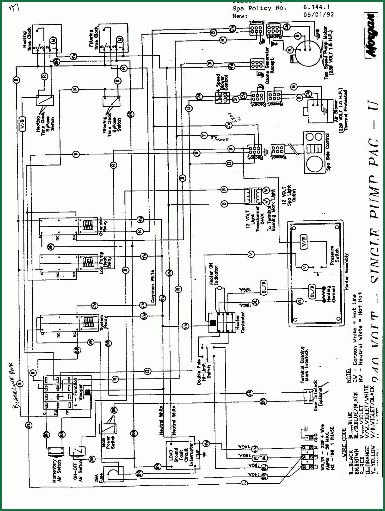 220 Volt Hot Tub Wiring Diagram
