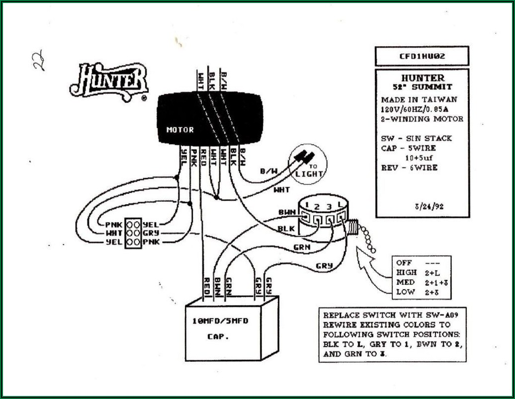 3 Speed Ceiling Fan Switch With Pull Chain 4 Wire Diagram
