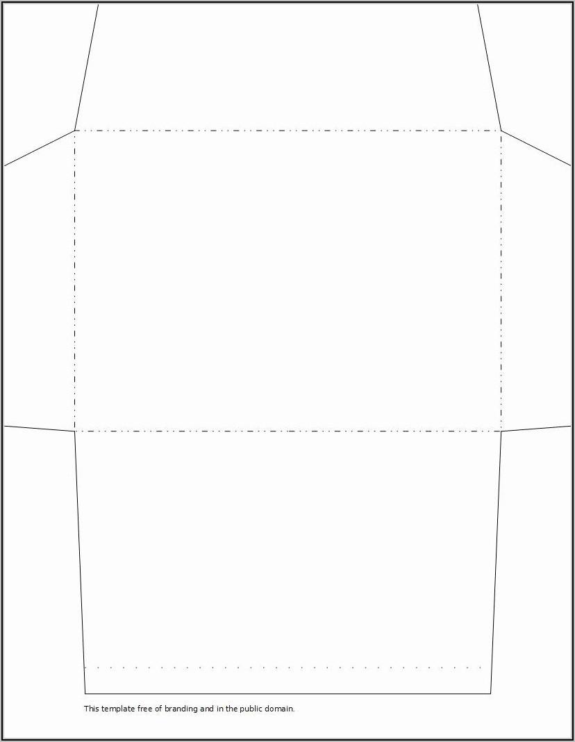 3x5 Envelope Template Word