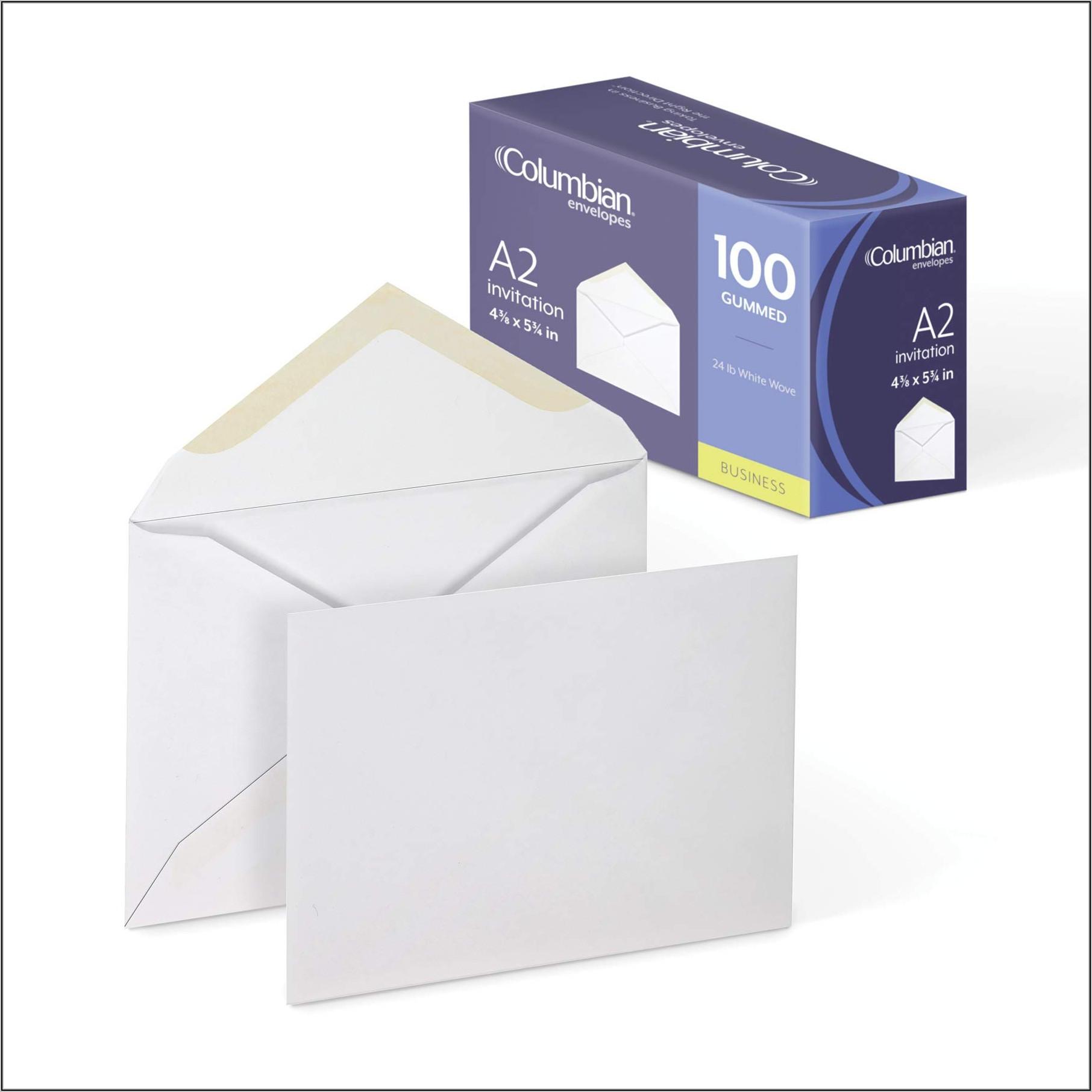 4 X 8 Invitation Envelopes