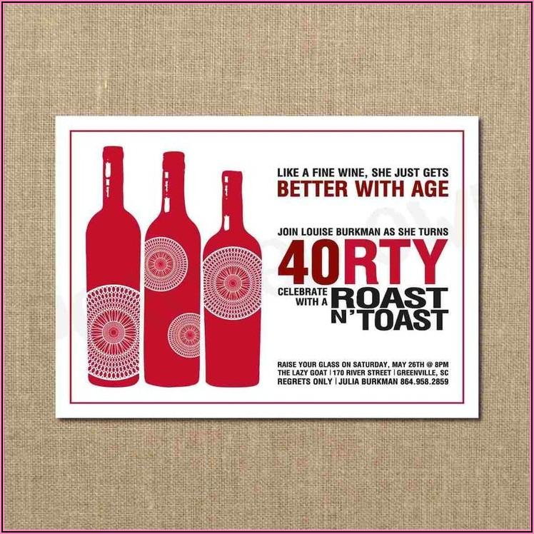 40th Birthday Dinner Invitation Wording