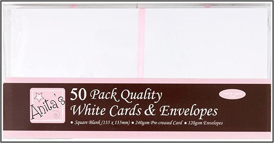 5 Inch Square White Envelopes