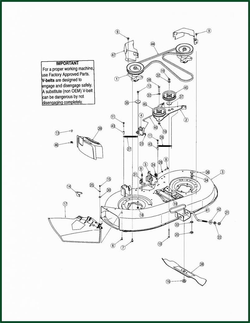 50 Inch Troy Bilt Mower Deck Belt Diagram