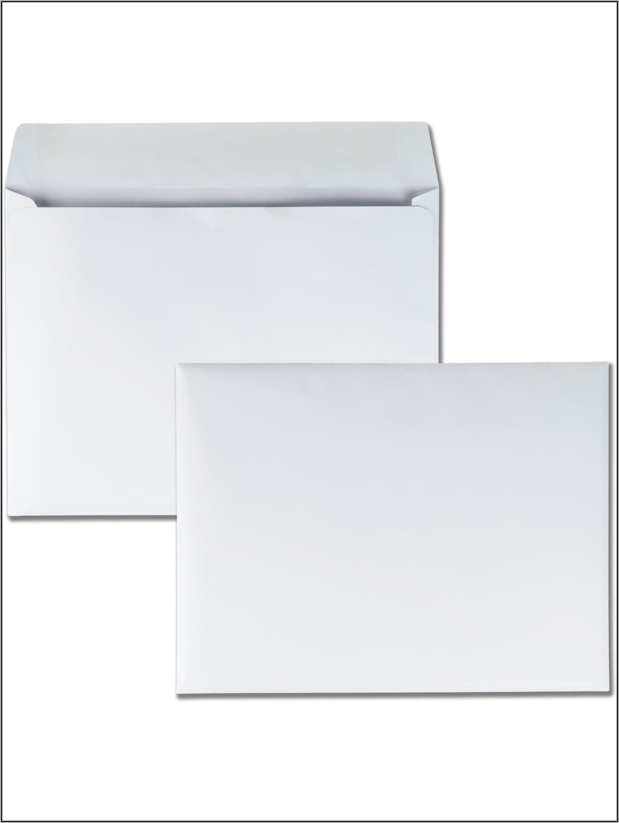 9 X 12 White Booklet Envelopes