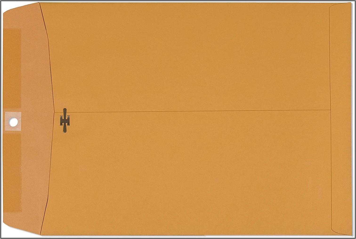 9x12 Kraft Clasp Envelopes