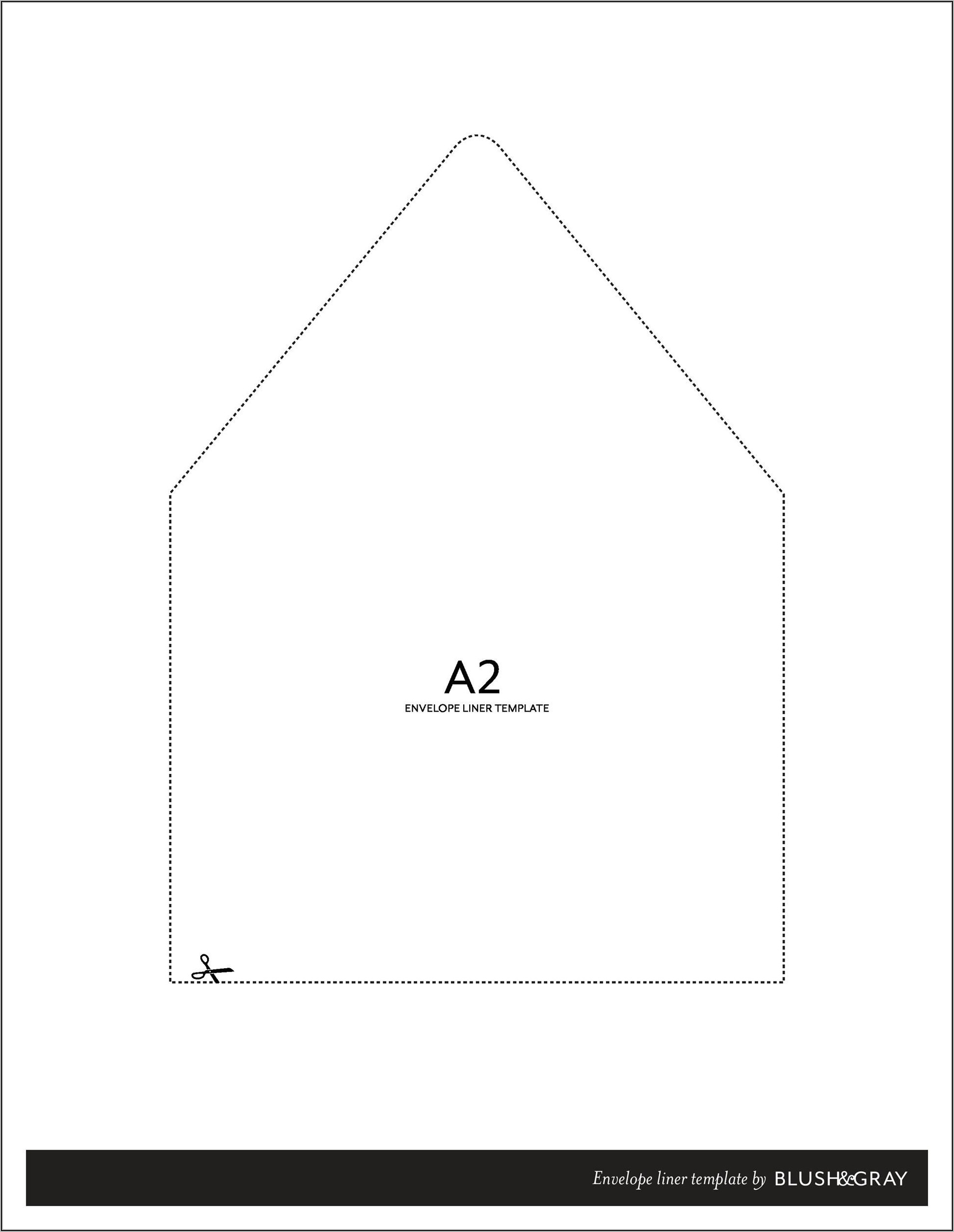 A1 Envelope Template Word