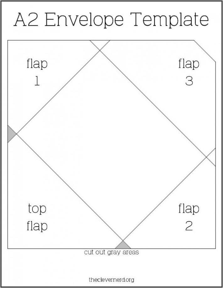 A2 Square Flap Envelope Template