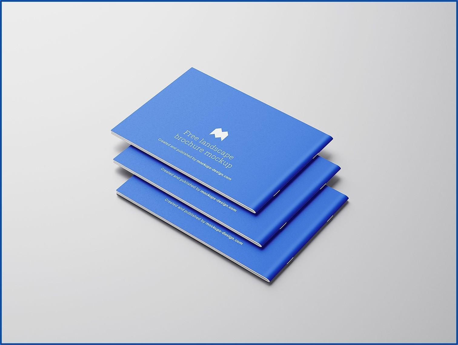A4 Landscape Booklet Mockup Free