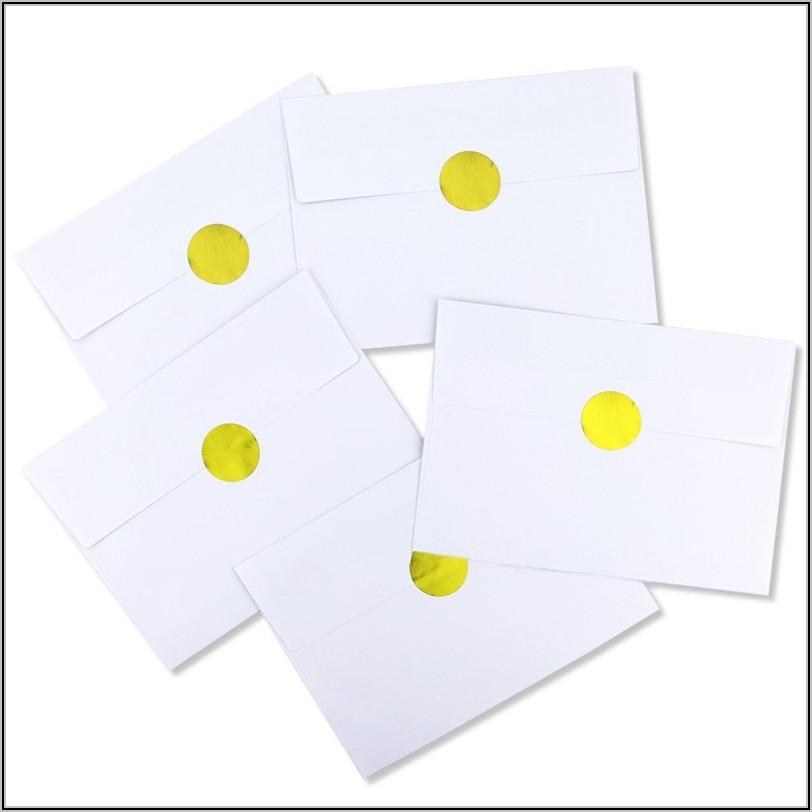 A7 Gold Foil Lined Envelopes