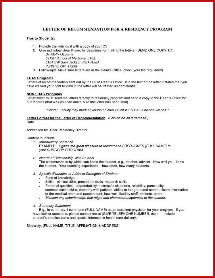 Aamc Letter Of Recommendation Letterhead