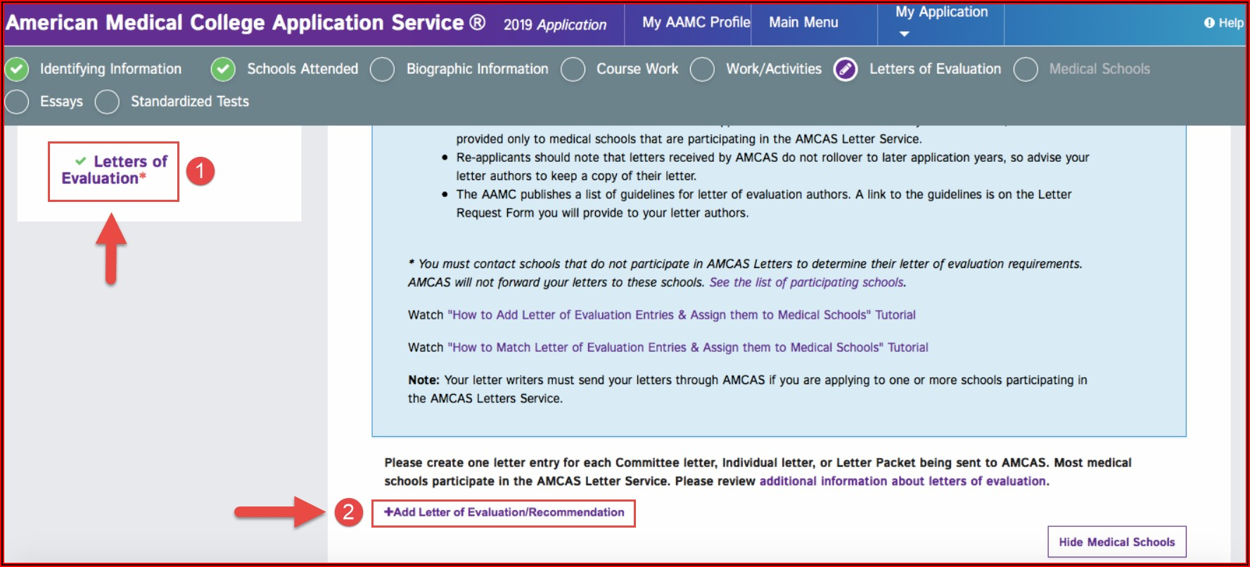 Aamc Letter Of Recommendation Requirements