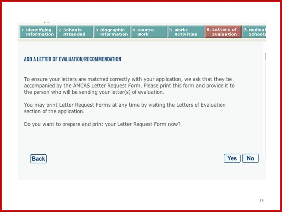 Amcas Letter Of Recommendation Format