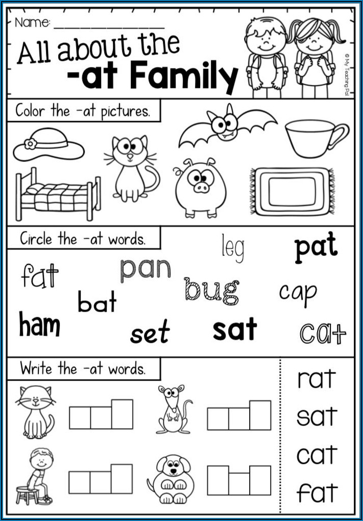And Word Family Worksheet