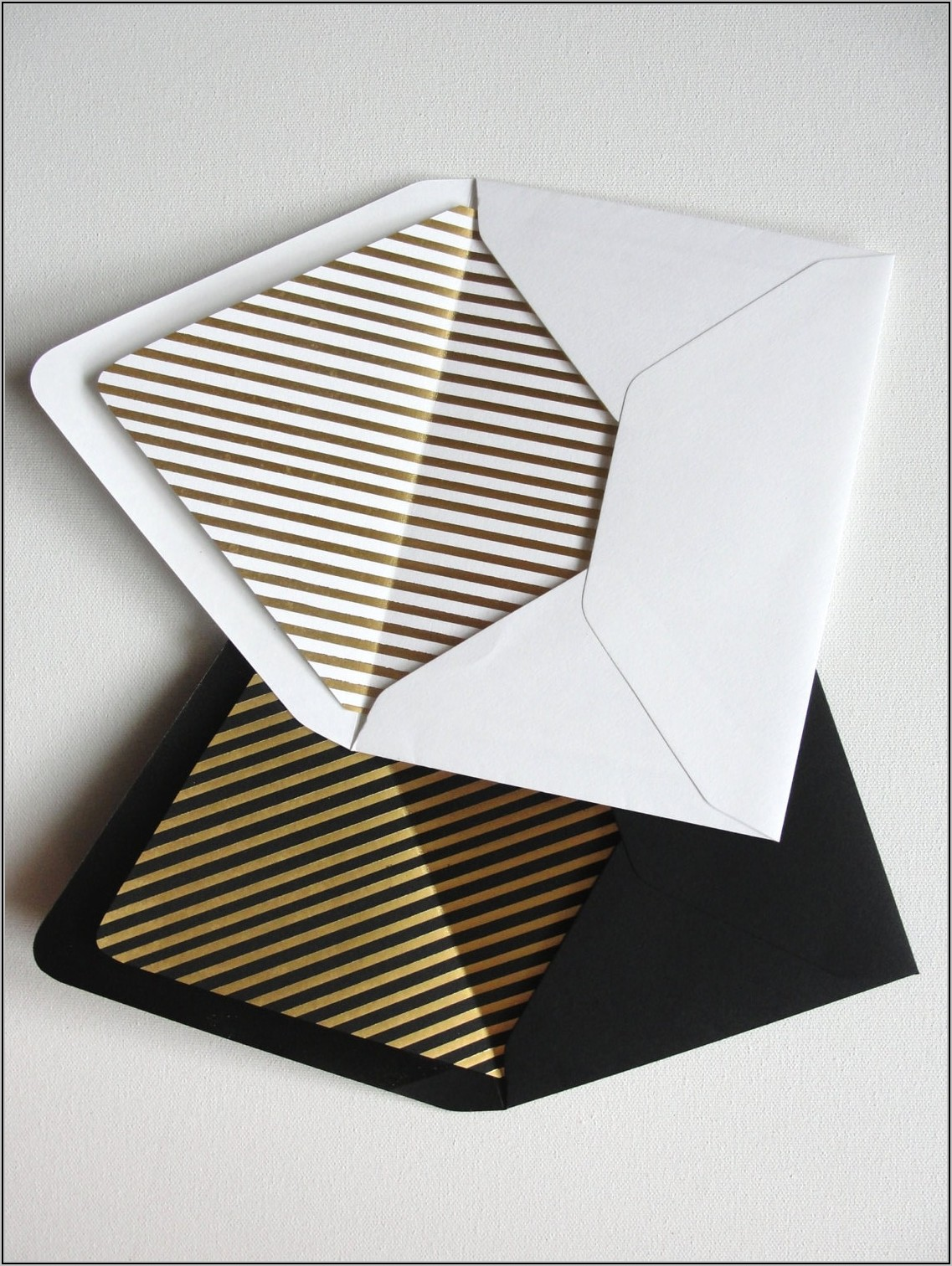 Black And Gold A2 Envelopes