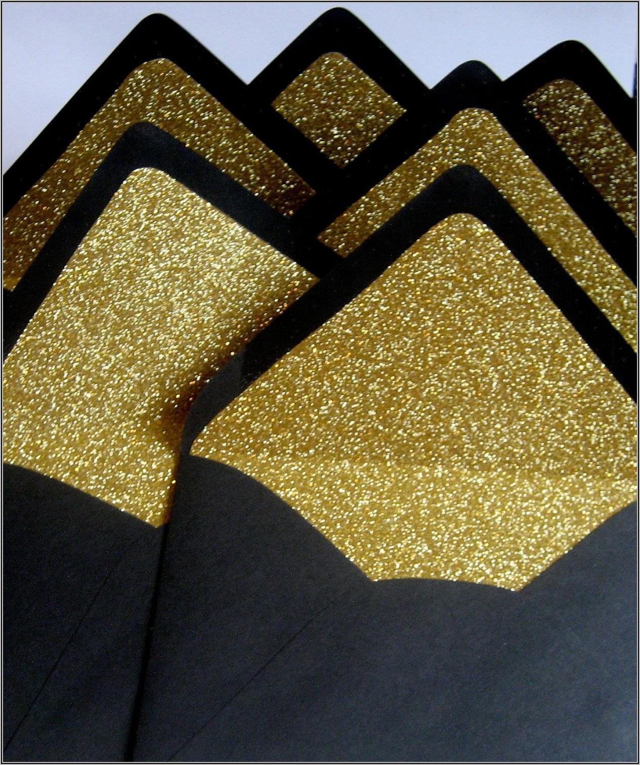 Black And Gold Lined Envelopes