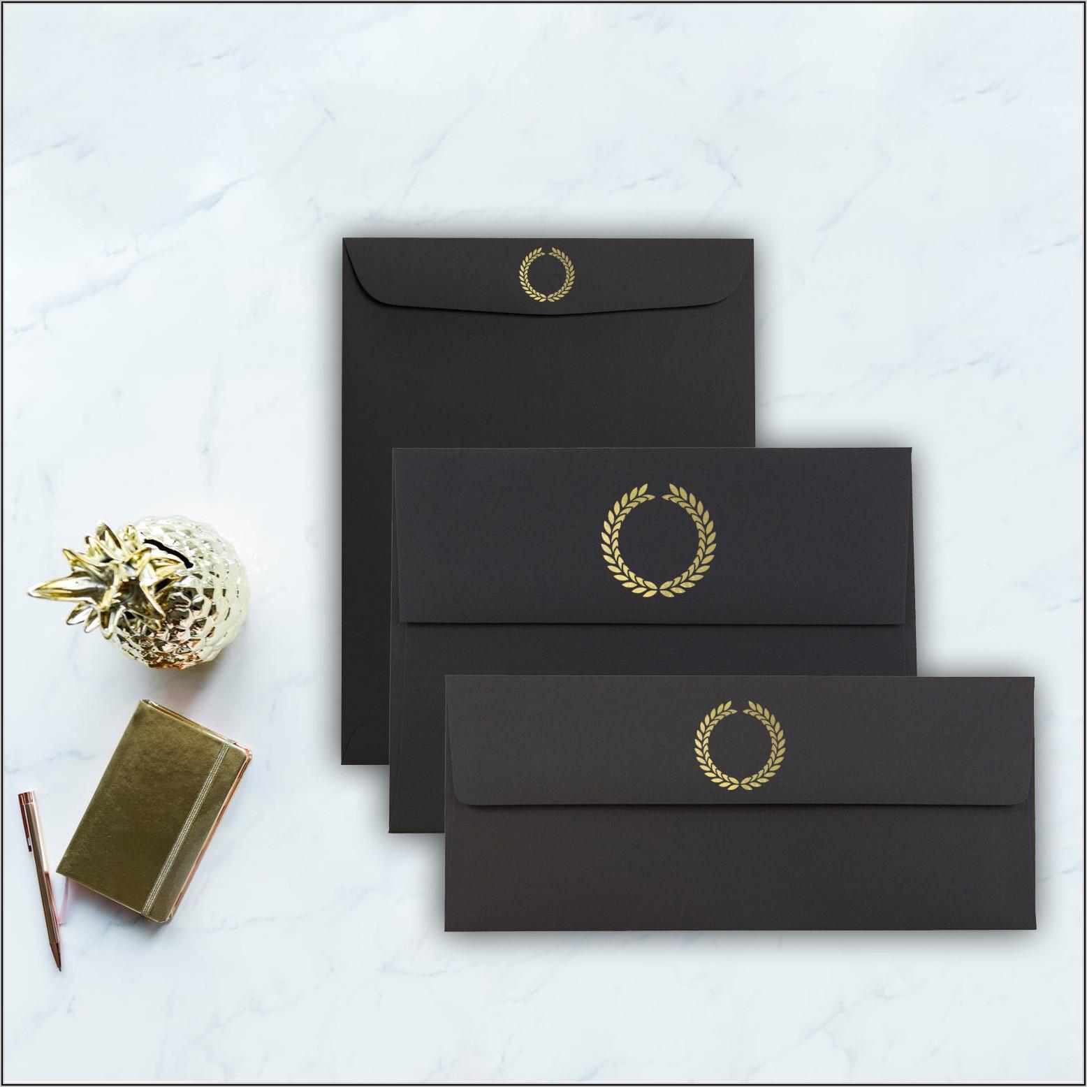Black And Gold Pocket Envelopes