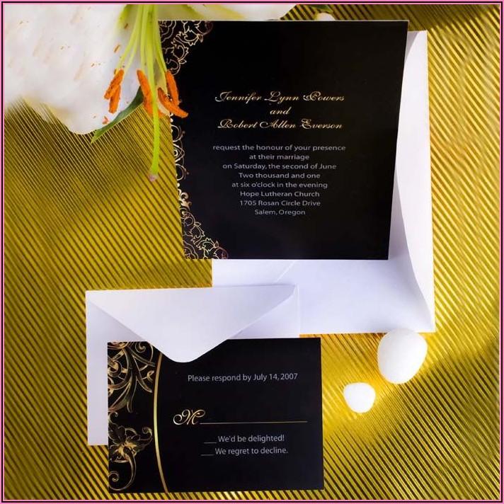 Black And Gold Wedding Invitations Cheap