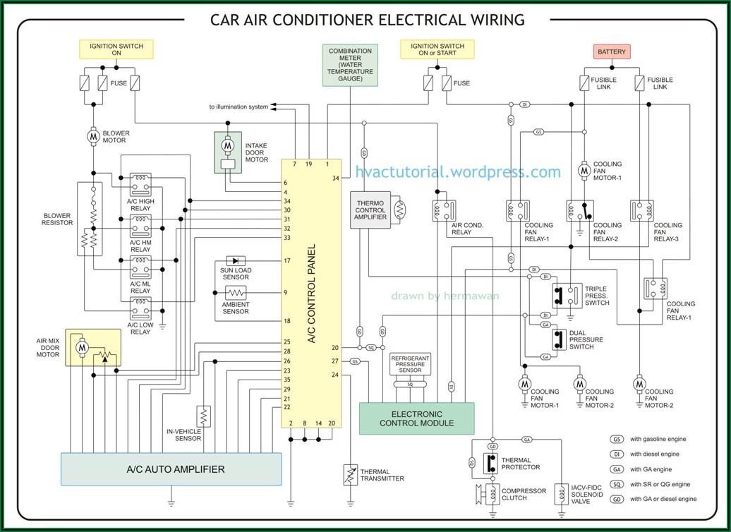 Car Aircon Compressor Wiring Diagram