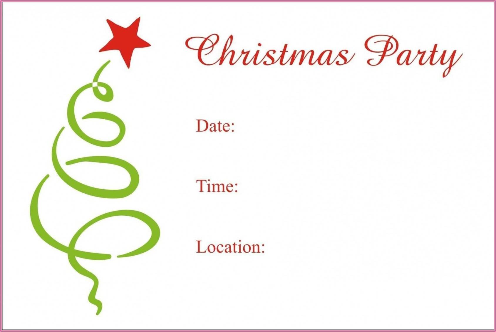 Christmas Dinner Invitation Template Word