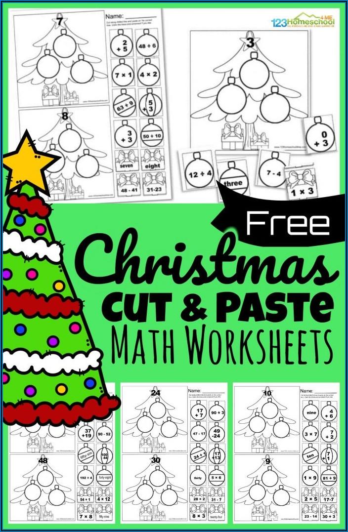 Christmas Math Printables For Preschool