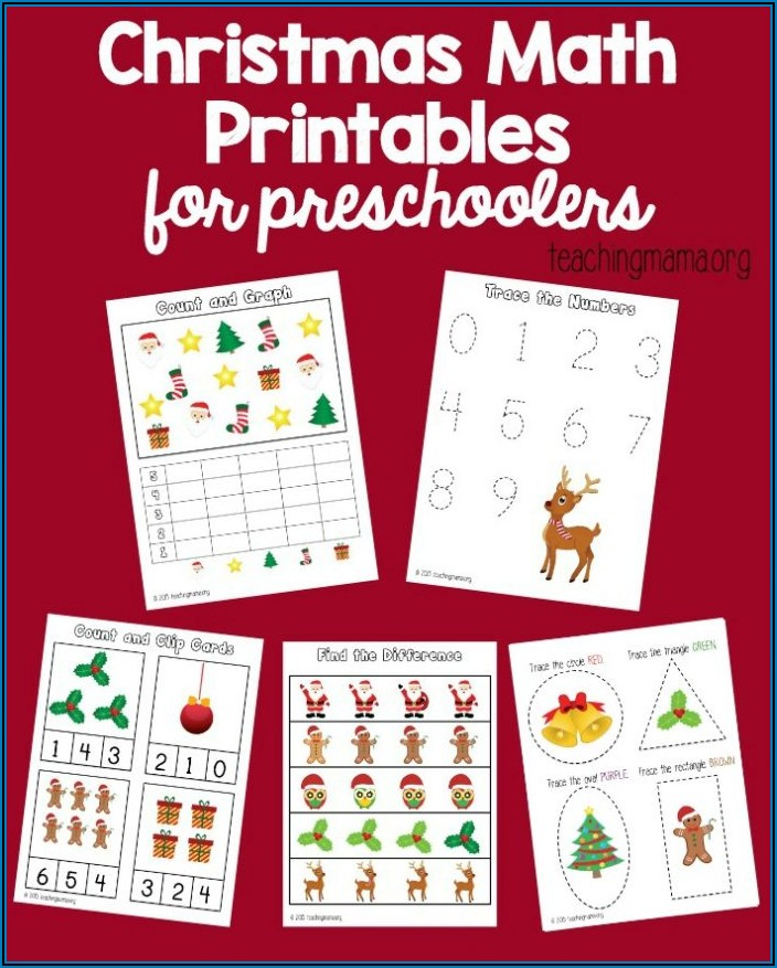 Christmas Math Worksheets For Toddlers