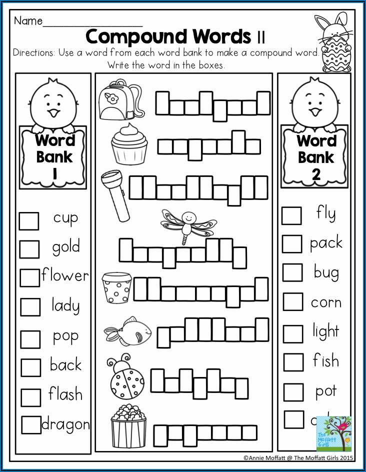 Compound Word Worksheet For Grade 1