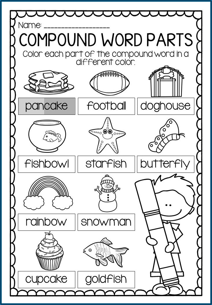 Compound Word Worksheets For Year 1