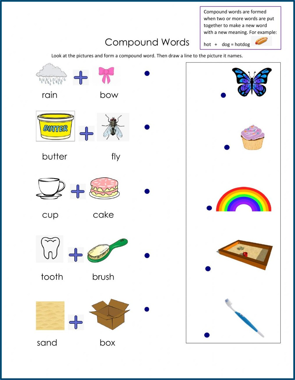 Compound Words Exercise For Class 4