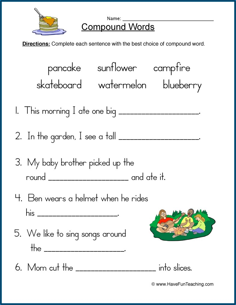 Compound Words Exercise For Grade 3