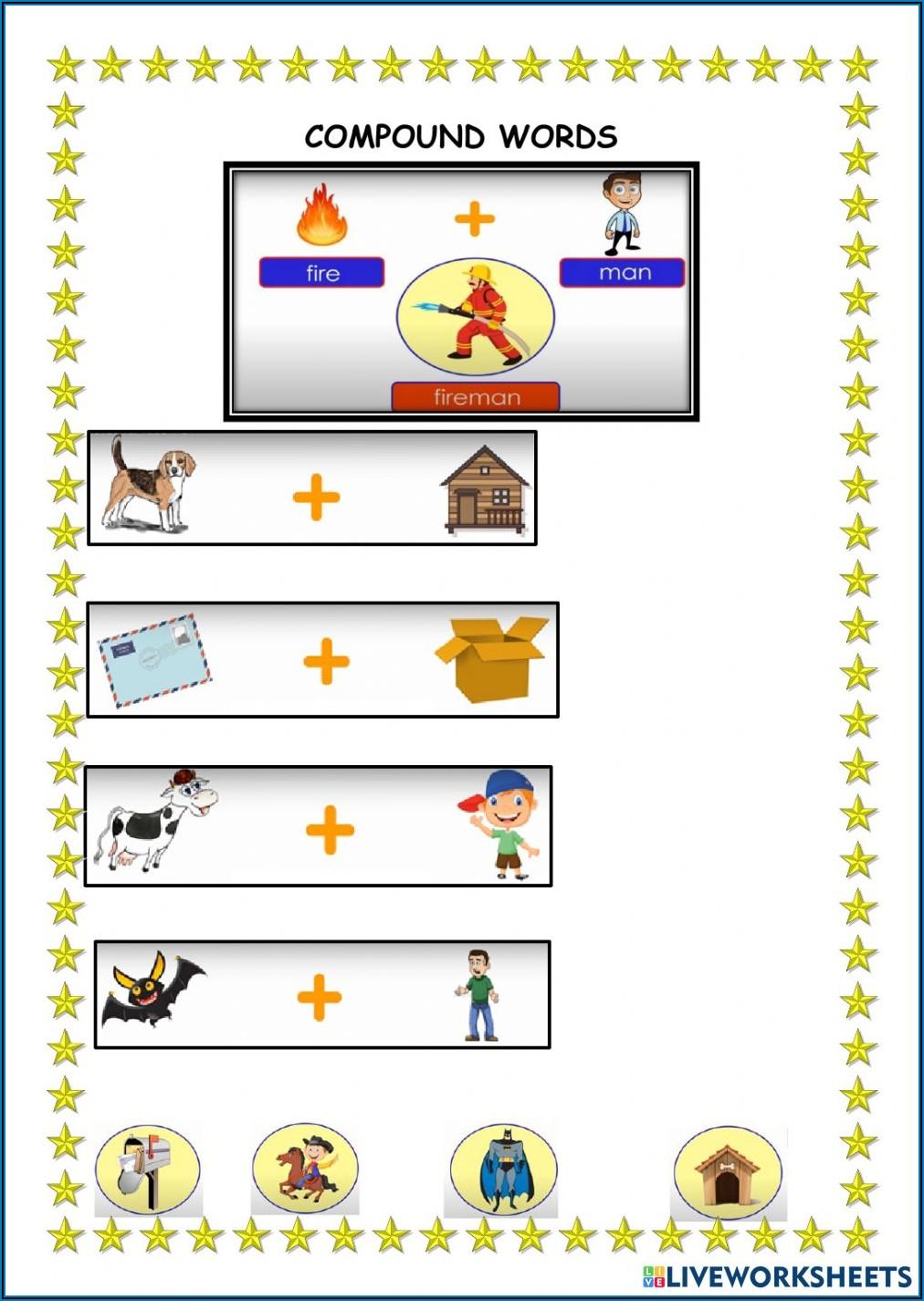 Compound Words Worksheet For Grade 3