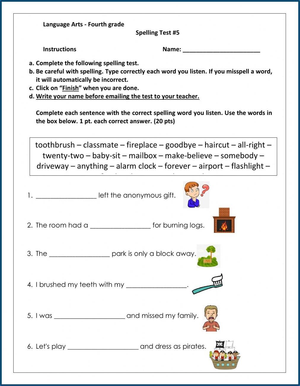 Compound Words Worksheet For Grade 4 Pdf