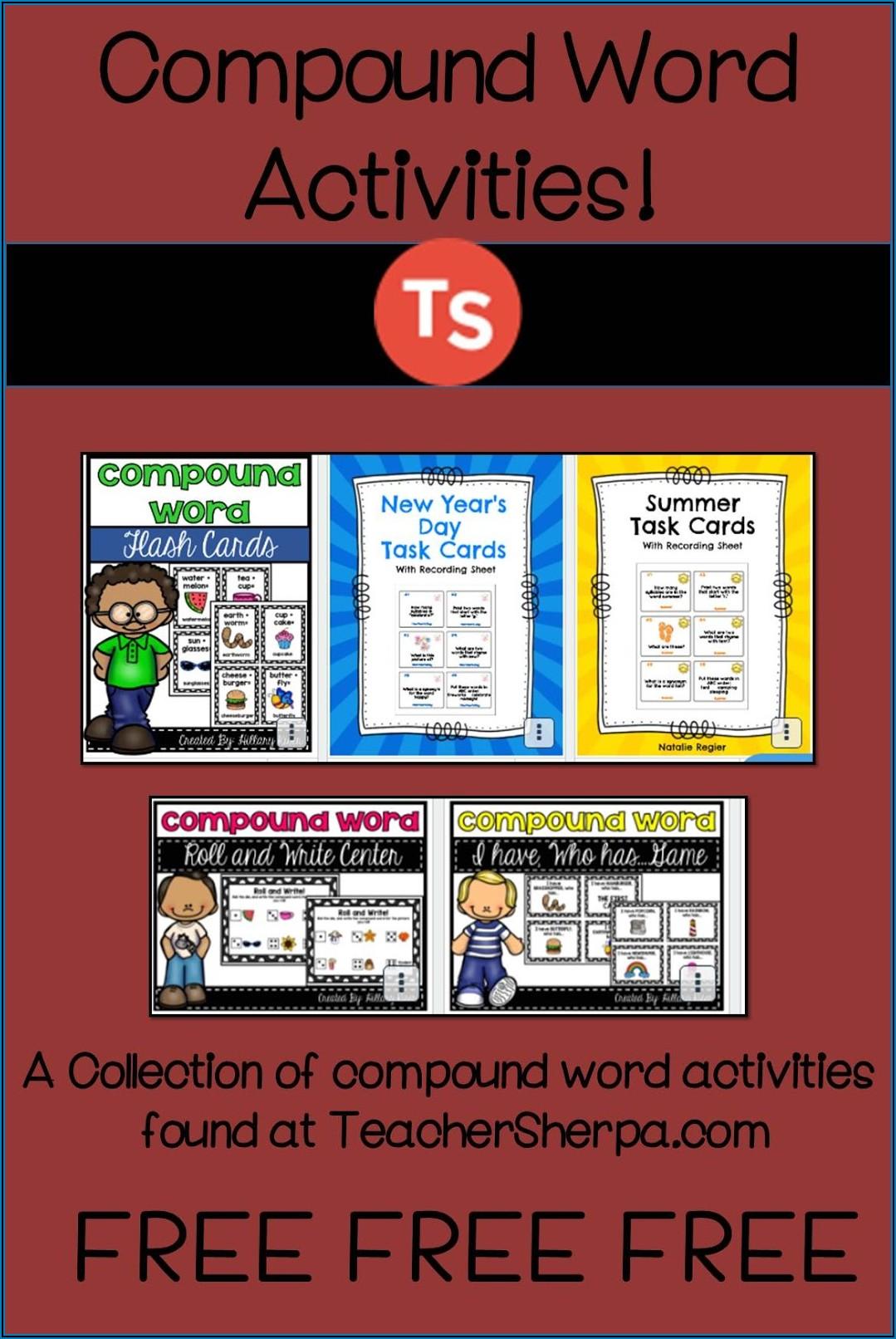 Compound Words Worksheet For Grade 4