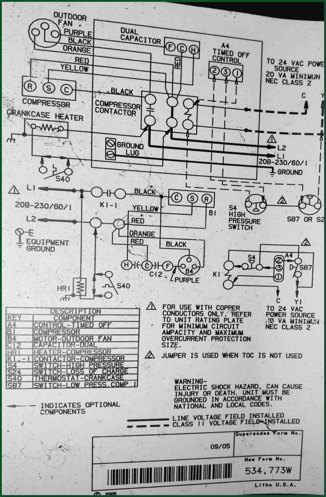 Compressor Wiring Diagram With Start Capacitor