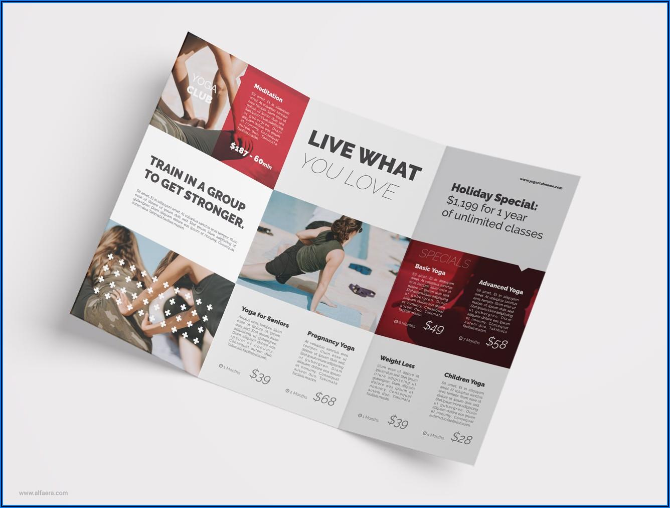 Coreldraw Tri Fold Brochure Template Free Download
