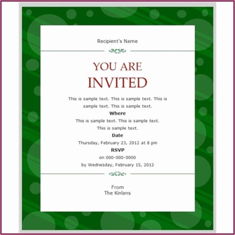 Corporate Dinner Invitation Email Template