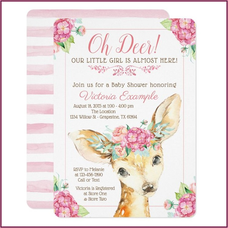 Cute Girl Baby Shower Invitations