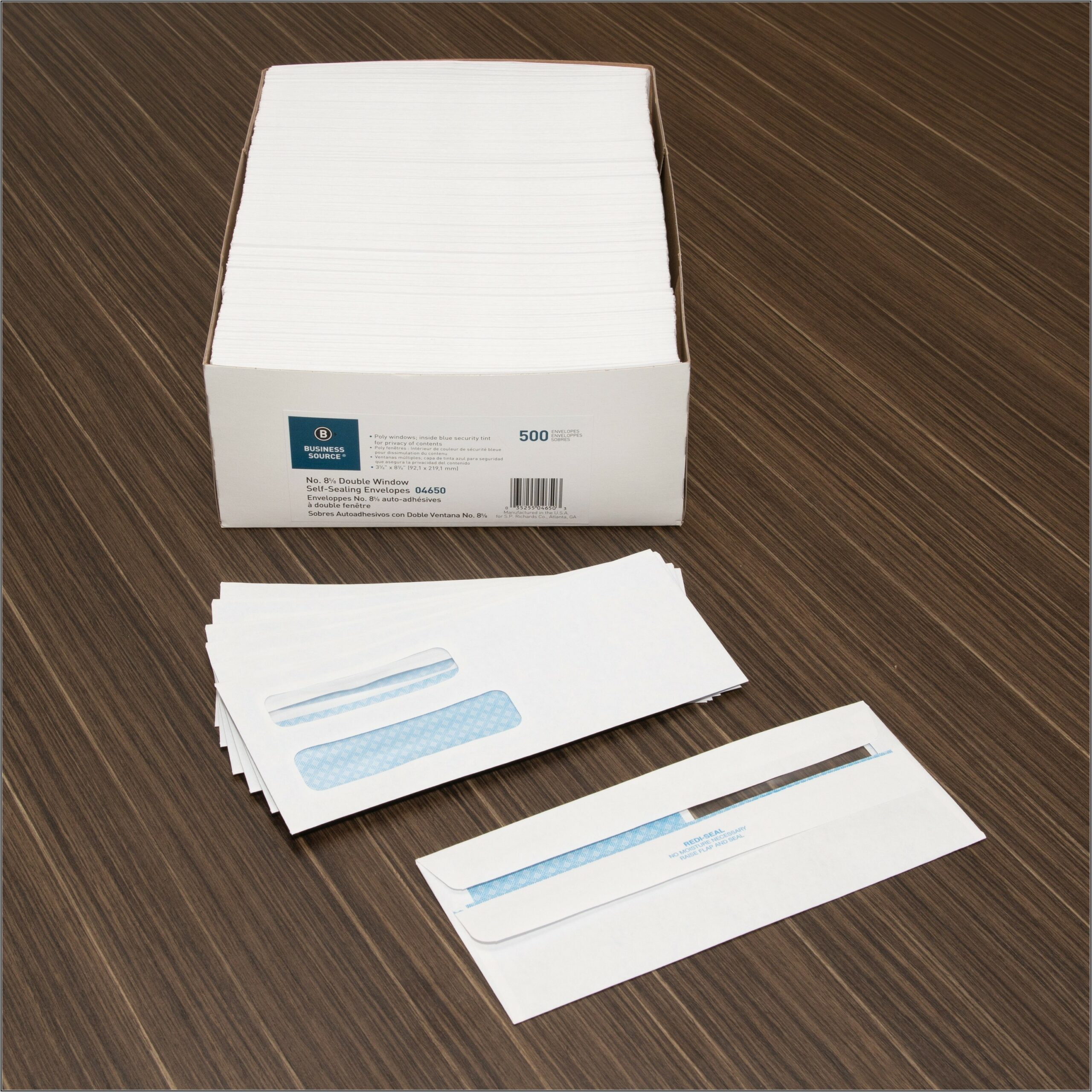 Double Window Business Check Envelopes