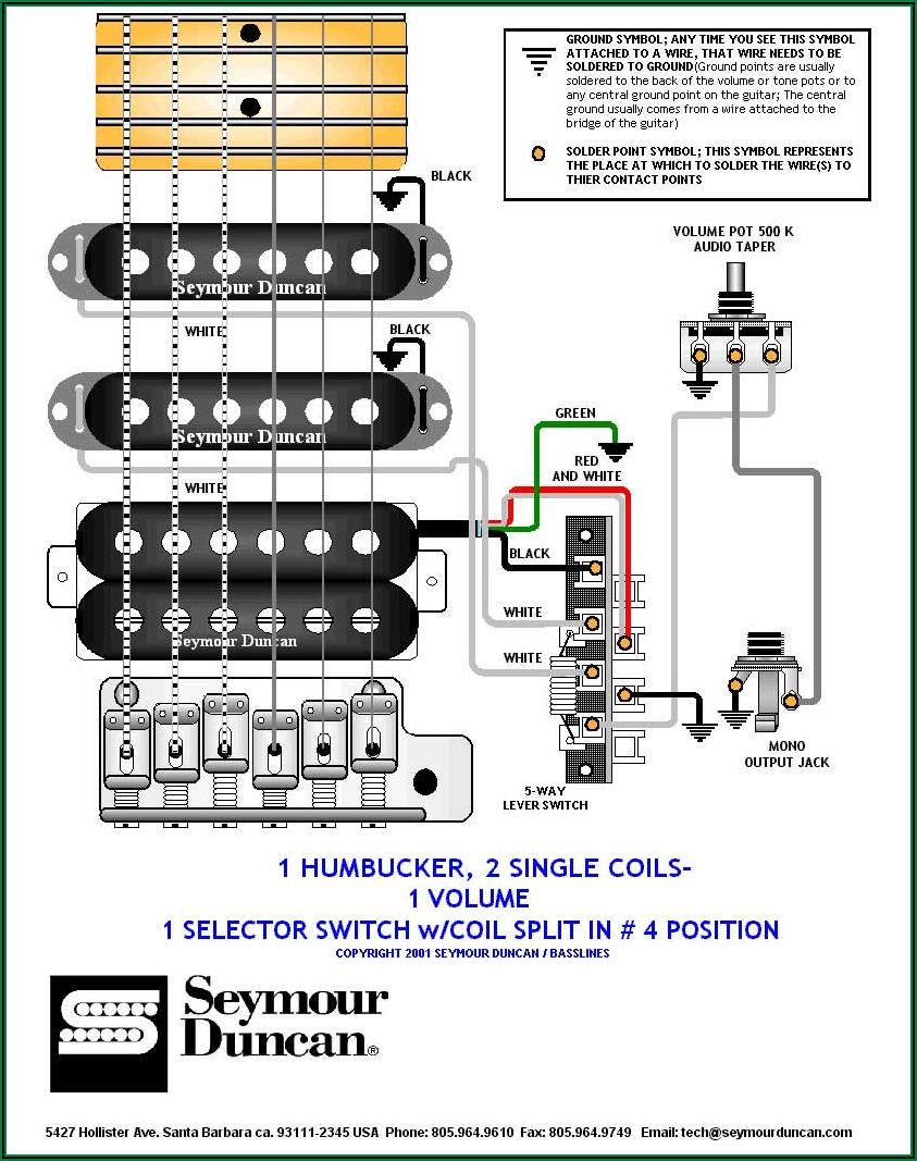 Electric Guitar Pickup Wiring Diagram